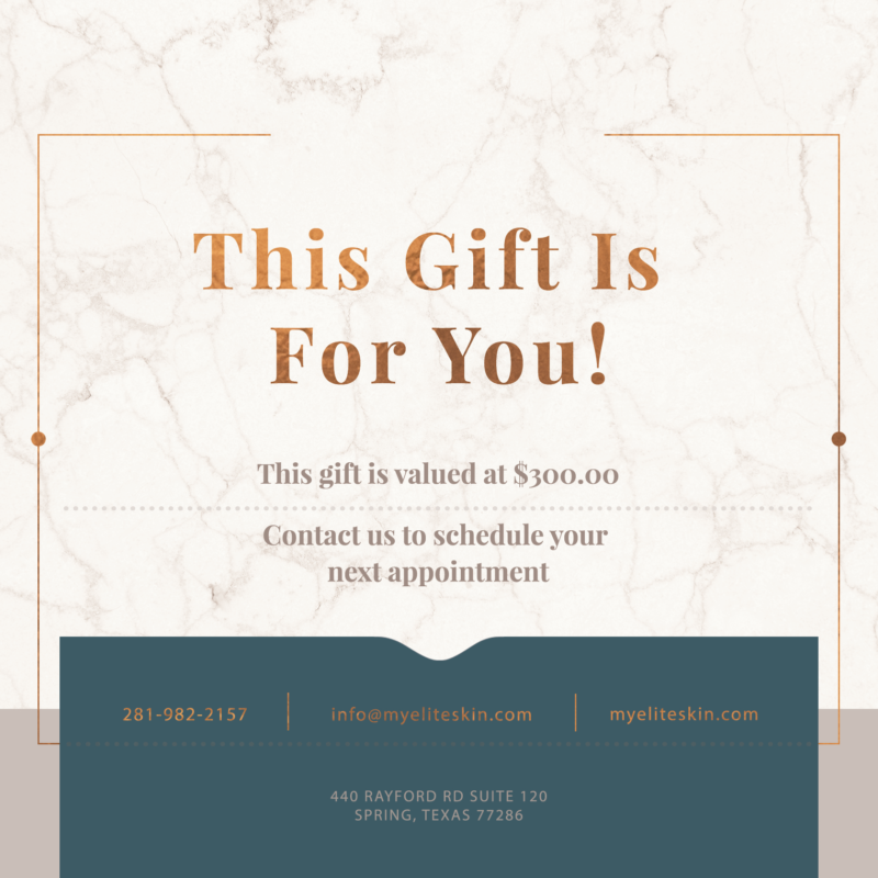 skin care gift card