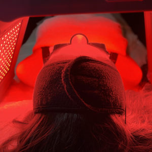 High-Frequency facial treatment with LED light therapy
