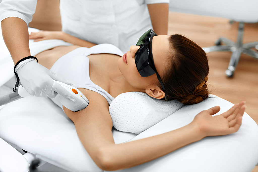 underarm laser hair removal in a med spa